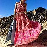 R.Vivimos Sleeveless Floral Print Maxi Dress