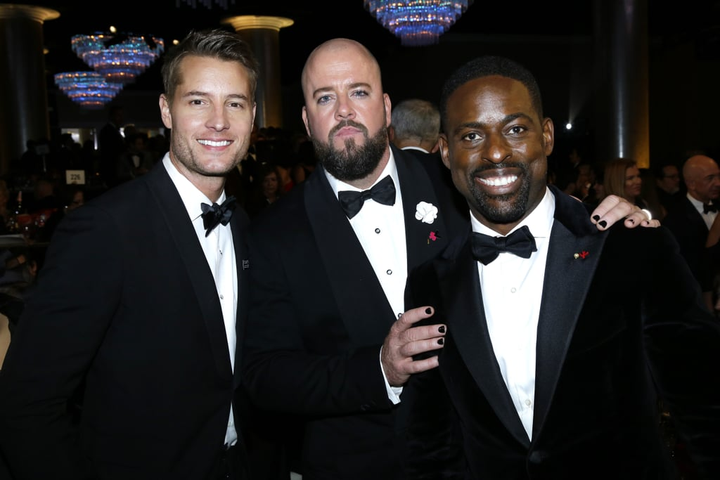 Pictured: Justin Hartley, Chris Sullivan, and Sterling K. Brown