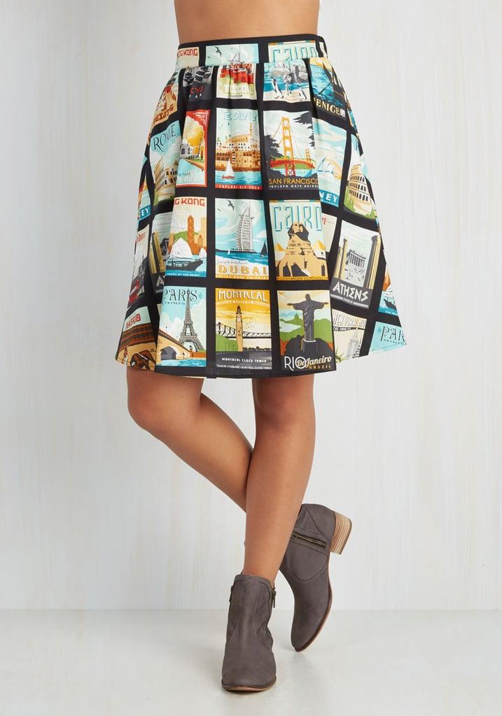 ModCloth Around the World in Katie Days skirt