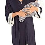 Angel Maternity Nursing Dress, Robe & Baby Blanket Pouch Set