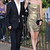 Matthew Williamson arrived with Poppy Delevigne who was wearing one of his cocktail dresses.