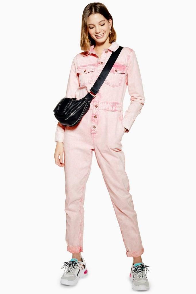13837950b5b4 Topshop Pink Acid Neon Wash Boiler Suit