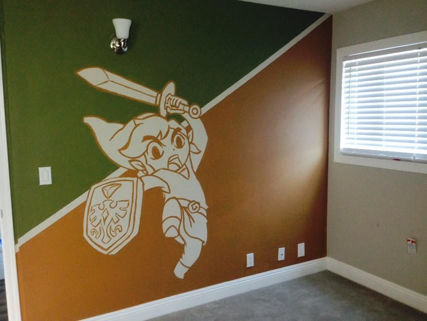 """My boyfriend painted this in my son's new bedroom."" Source: Imgur"
