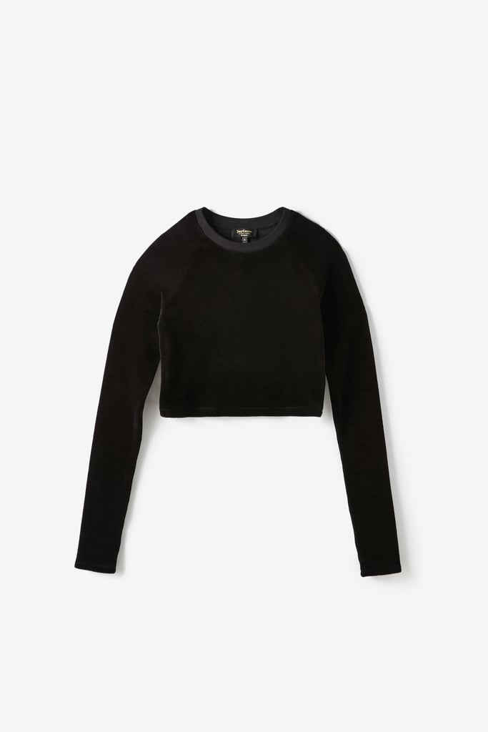 Juicy Couture For UO Long Sleeve Cropped Velour Top ($69)