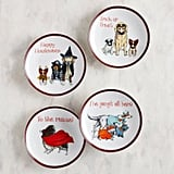 Halloween Dogs Appetizer Plate Set