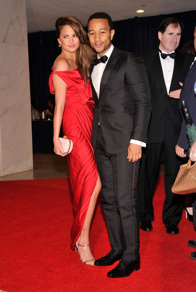 John Legend posed on the carpet at the White House Correspondant's Dinner.