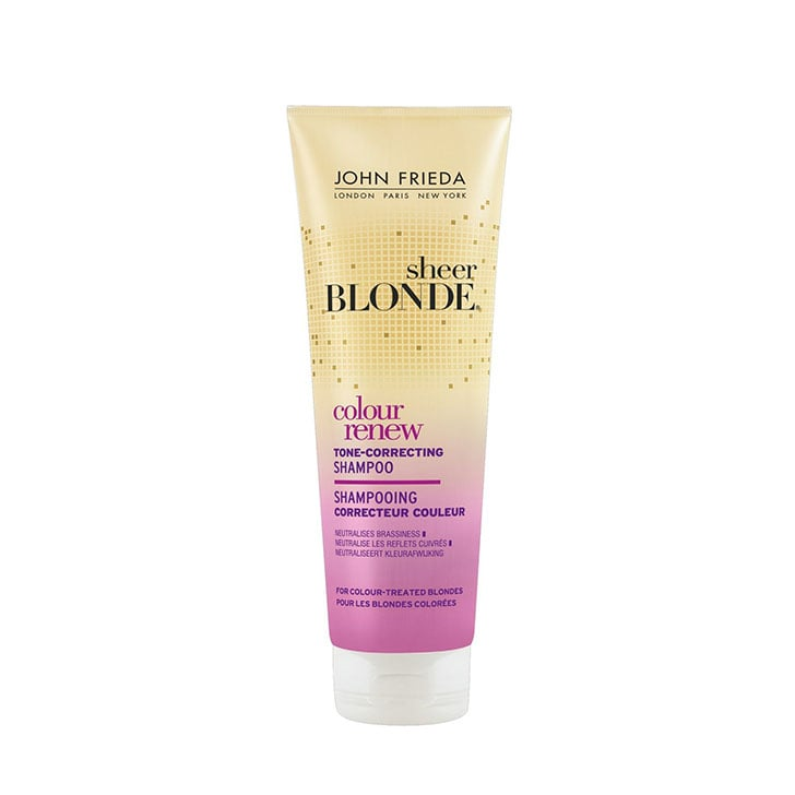 John Frieda Sheer Blonde Colour Renew Tone-Correcting Shampoo, $17.99