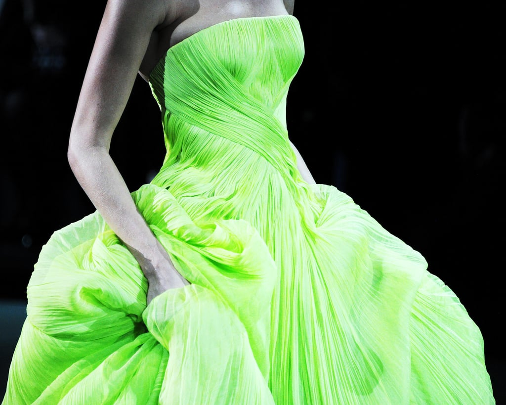 If the shocking green color of this gown wasn't enough, the texture of it made it even more beautiful.