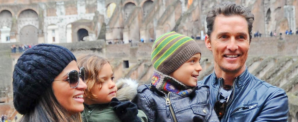 Matthew McConaughey in Rome with His Family | Pictures