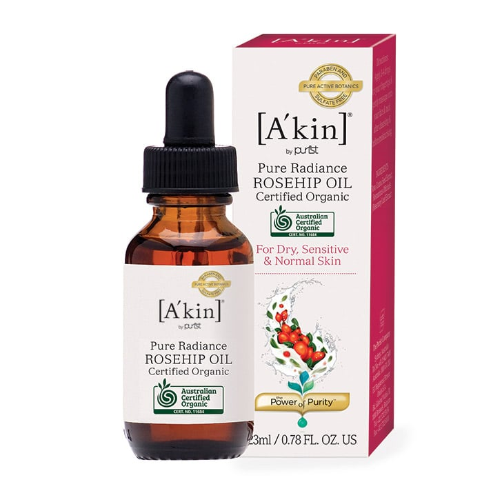 A'kin Certified Organic Pure Radiance Rosehip Oil, $19.95