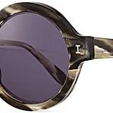 Illesteva Frieda Round Sunglasses, Gray/Havana