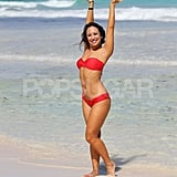 Cheryl Burke Strikes a Pose in a Hot Bikini on the Beach
