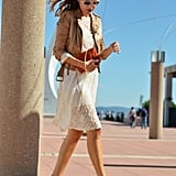 Give white lace a Fall twist with a buttery leather topper and a pair of Fall booties. Source: Lookbook.nu
