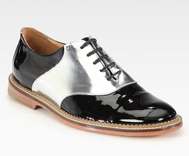Colorblock shoes are superrelevant right now, so get in on these Opening Ceremony Bicolor Patent Oxfords ($365) while the trend is still blazing hot.