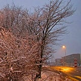 Snow in Kaiseraugst - AG - Switzerland