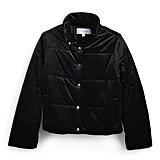 معطف مخمليّ منفوخ باللّون الأسود