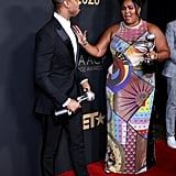 Michael B. Jordan and Lizzo at the 2020 NAACP Image Awards