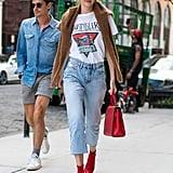 Gigi Hadid's Red Sock Boots