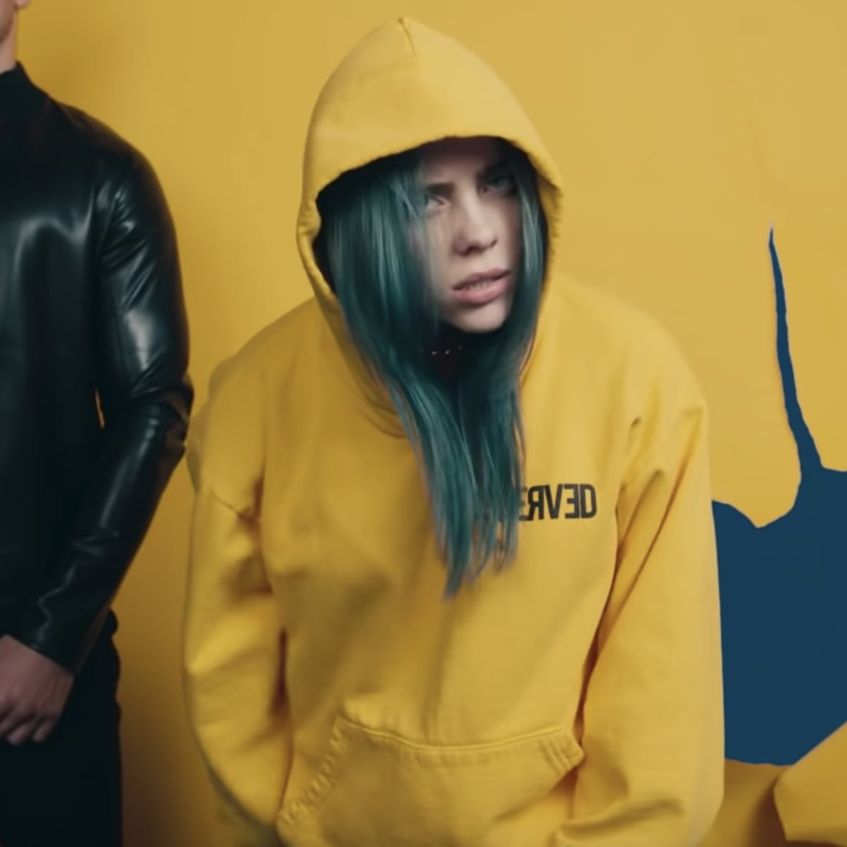 billie eilish yellow outfit video  aviana gilmore