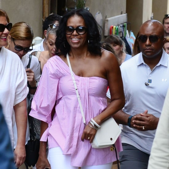 Michelle Obama's Teija Stripe Pink Top