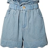 SEA Dakota Scalloped Denim Shorts