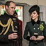 Kate Middleton Drinking Guinness on St. Patrick's Day 2017