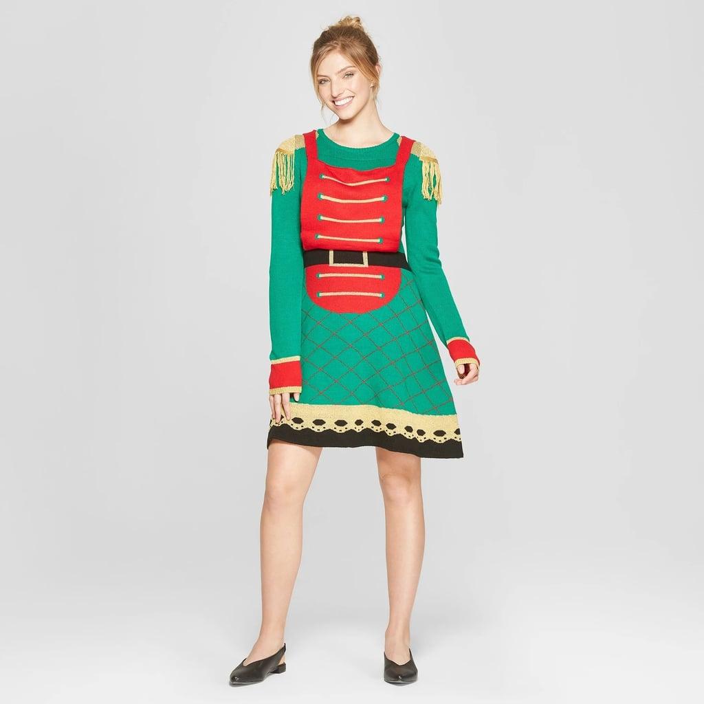 Women Christmas Sweater Dress.Women S Ugly Christmas Toy Soldier Dress Ugly Christmas