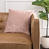 Rivet Contemporary Shiny Luxe Velvet Throw Pillow