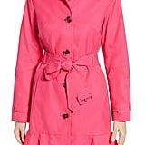 Kate Spade New York Millbrook Twill Water-Resistant Rain Coat