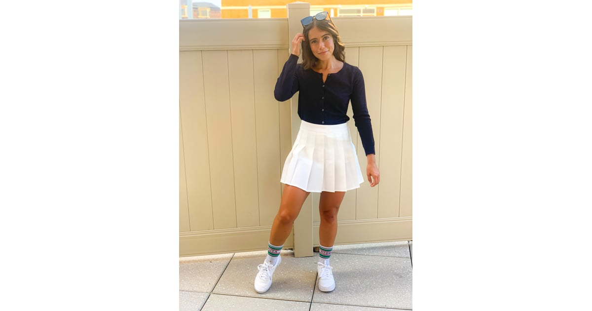 Tennis Skirt Outfit 2 I Started Wearing A Tennis Skirt And Just Like That It S Replacing My Biker Shorts Popsugar Fashion Photo 4