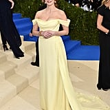 She wore a Prada dress with Piaget jewels to the 2017 Met Gala.