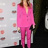 Stacy Keibler in a Bright Pink Suit