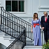 Melania Trump Gingham Ralph Lauren Dress Fourth of July 2018