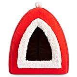 Hollypet Self-Warming 2-in-1 Cat Bed — Santa Hat