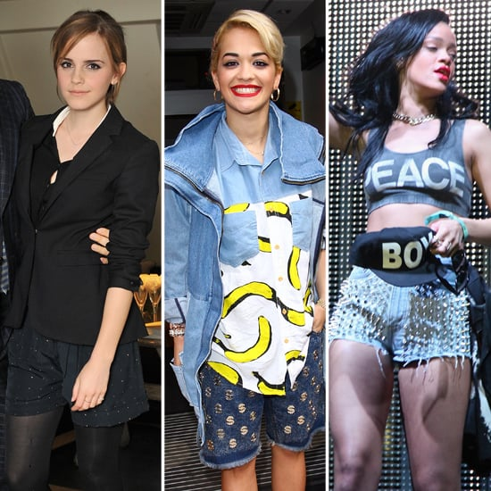 Emma Watson, Rita Ora, Rihanna in Embellished Shorts Trend