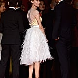 Diane Kruger turned heads in her dress and stilettos.