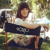 Carly Rae Jepsen filmed a cameo on 90210. Source: Instagram user carlyraejepsen