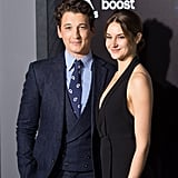 Miles Teller and Shailene Woodley made a handsome pair at the premiere of Insurgent in New York on Monday.