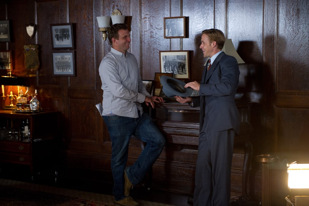 Director Ruben Fleischer and Ryan Gosling in Gangster Squad.