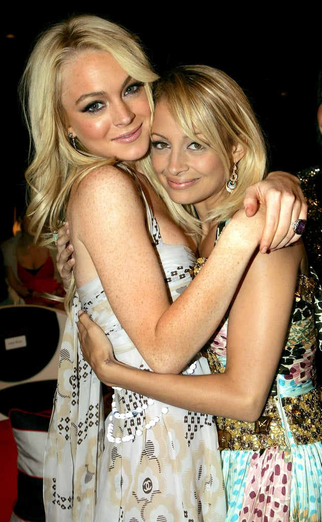 Lindsay Lohan and Nicole Richie stayed superclose backstage at the MTV Movie Awards in June 2005.