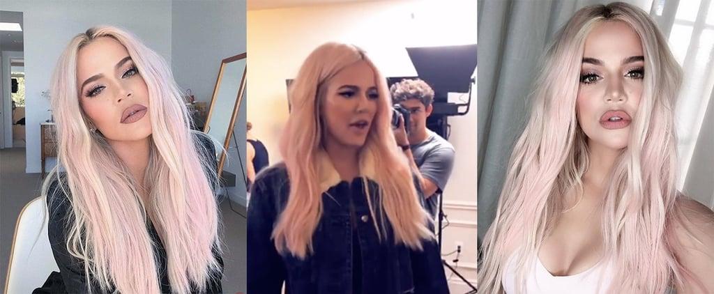 Khloé Kardashian Pink Hair 2018