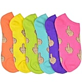 Middle Finger Women's Ankle Socks 6-Pack