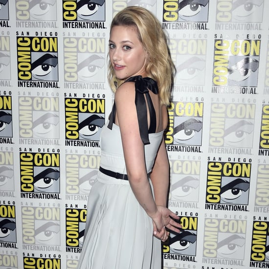 Lili Reinhart's Blue Prada Dress at Comic-Con 2019