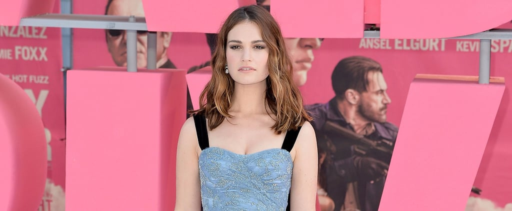 Lily James Stuns in Burberry at the Baby Driver Premiere