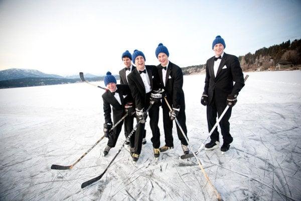 Groomsmen Hockey Game