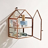 Wall-Mounted Glass House Storage ($18)
