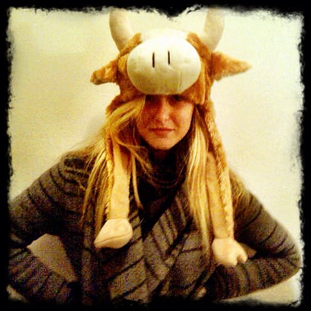 Bar Refaeli showed off a silly hat. Source: Instagram user barrefaeli