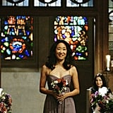 Cristina (Sandra Oh) is an absolutely gorgeous bridesmaid.