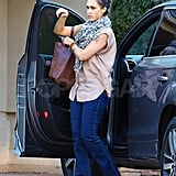 Jessica Alba runs errands in LA.