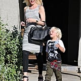 Gwen Stefani and Zuma Rossdale went to a baby shower on Saturday in LA.